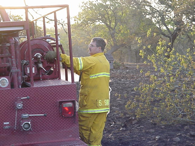 Photo of Mopping up at a grass fire